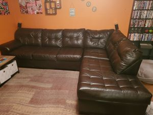 2 Piece Leather Sectional for Sale in Spartanburg, SC
