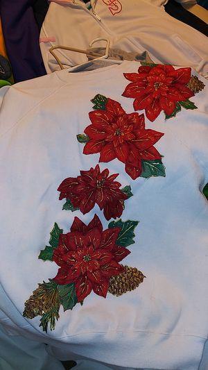 Two adult longsleeve Christmas sweatshirts for Sale in Seattle, WA