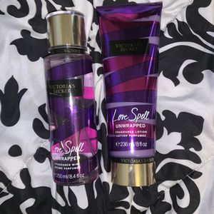 victoria secret love spell lotion and perfume for Sale in Banning, CA
