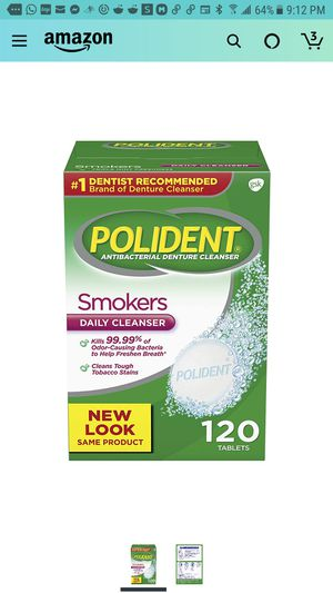 Polident antibacterial Denture Cleanser for Sale in Woodlawn, MD