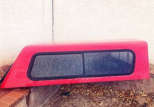"Camper Shell, red fiberglass, 70""W X 80""L for Sale in Las Vegas, NV"