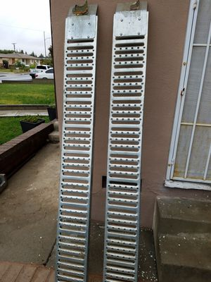 2 Quad loading ramps motorcycles bike 1000 Lb. Capacity 9 In. X 72 In. Steel Loading Ramps for Sale in Montclair, CA