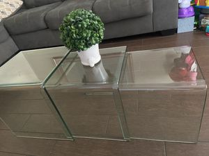3 glass coffee table for Sale in Los Angeles, CA