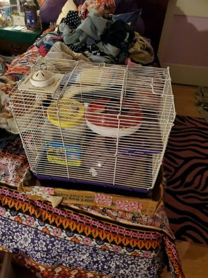 Hamster cage + Accessories for Sale in San Angelo, TX