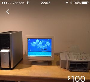 Computer, Monitor and Printer for Sale in Arlington, VA