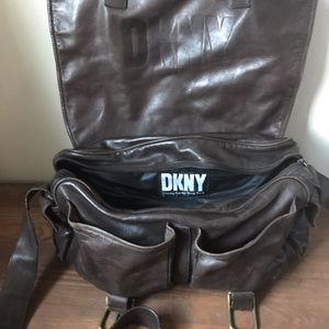 DKNY Brown Leather Messenger Bag for Sale in The Bronx, NY