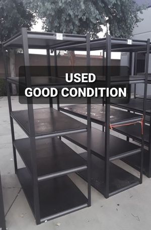 Quality brand Metal Storage racks, Used - good condition, 6ft x 4ft x 2ft, 5 shelfs, each shelf rated 650lbs, $75ea, perfect for mancave or garage for Sale in Redondo Beach, CA