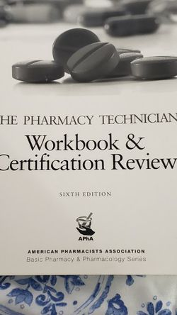 The Pharmacy Technician. Workbook & Certification Review for Sale in Glendale Heights,  IL