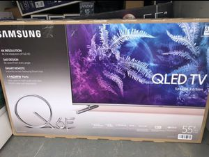 "55"" Samsung QN55Q6F QLED 4K UHD HDR LED Smart TV 240 MR 2160p (FREE DELIVERY) for Sale in Lakewood, WA"