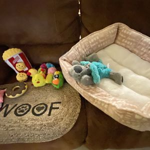 Doggie Bed And Toys for Sale in Perris, CA
