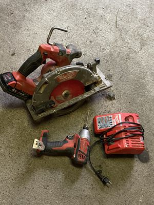 Working 18V Milwaukee impact drill and skill saw for Sale in Garden Grove, CA