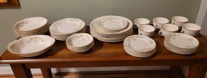 44 pc Vintage Taylor Smith Rose Pattern Dinnerware Set for Sale in Pillager, MN