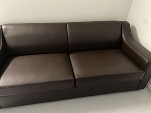 Leather sofa bed for Sale in Haines City, FL