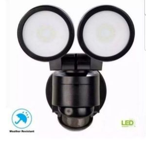 Defiant 180 Degree Black Motion Activated Outdoor Integrated LED Twin Head Flood Light, New, open box, PRICE IS NOT NEGOTIABLE. for Sale in Palatine, IL