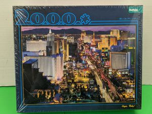 VEGAS, BABY! Jigsaw Puzzle 2000 PC Buffalo Games Las Vegas Strip at Night for Sale in Mount Prospect, IL
