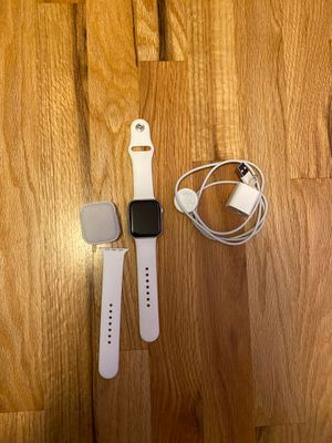 Apple Watch series 4 with white sports band for Sale in Kirkland, WA