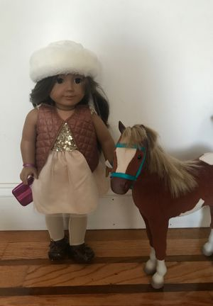 American Girl doll with a horse for Sale in Queens, NY