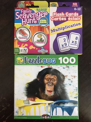 Puzzle, card game, flash cards for Sale in Baldwin Park, CA