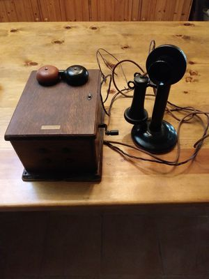 Antique Western Electric Candlestick phone with ringer box 1915 for Sale in Prescott, AZ