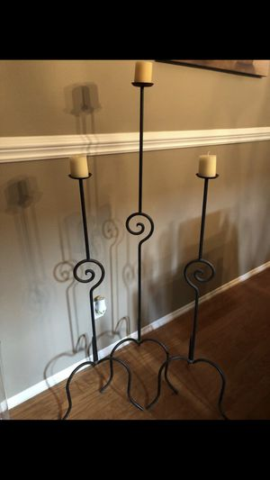 TALL FLOOR CANDLE HOLDERS for Sale in Riverside, CA
