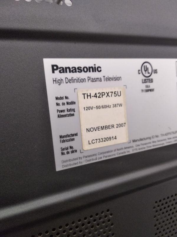 panasonic 42 plasma tv with stand $40