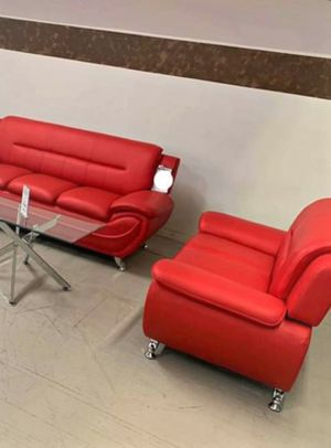 🍻$39 Down Payment 💥  Enna Red Sofa & Loveseat | U2703 for Sale in Jessup, MD