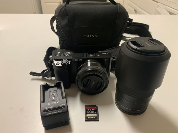 Sony A6000 with accessories