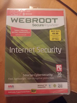 Webroot Internet Security (anti-virus) for Sale in Arroyo Grande, CA