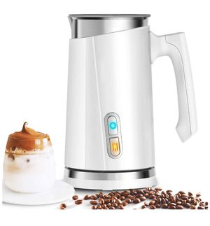 Milk Frother, Black&White Electric Milk Steamer Cup for Milk Foam & Heating Milk ({link removed}.5oz), Auto-Stop Milk Foam Maker for Homemade Coffee for Sale in Corona, CA