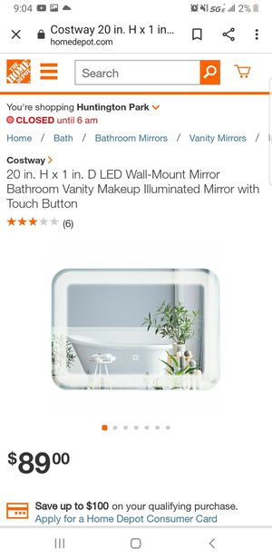 20 in. H x 1 in. D LED Wall-Mount Mirror Bathroom Vanity Makeup Illuminated Mirror with Touch Button Retails 90 asking 50 obo!!! New for Sale in Downey, CA
