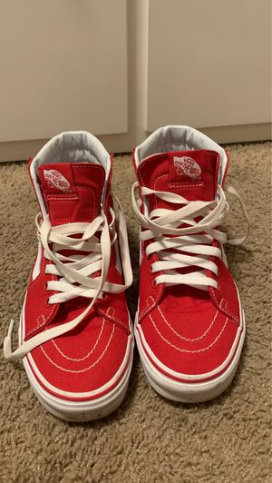 Red high top vans for Sale in Woodburn, OR