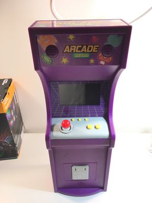Mini retro arcade with 100 built in games (6 inches wide 18 inches tall ) for Sale in Los Angeles, CA