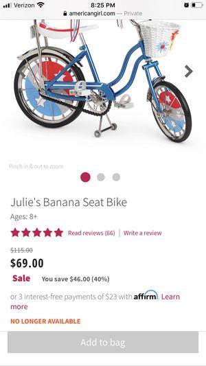 American girls doll bike for Sale in Annandale, VA