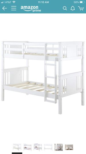 White twin bunk bed for Sale in Jenks, OK