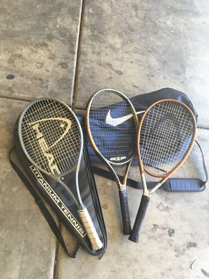 Tennis rackets with bag for Sale in Las Vegas, NV