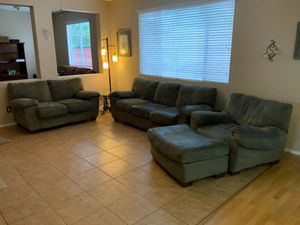 Living room furniture set suede material for Sale in Temecula, CA