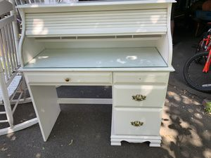 Roll down desk, hardware for top right drawer in the drawe for Sale in Arlington, MA
