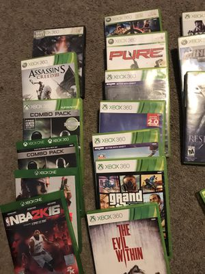 Xbox 360 and one games for Sale in Wagener, SC