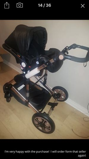 Baby stroller 3in1 with car set it's new not used and with the stroller gift for Sale in Erie, PA