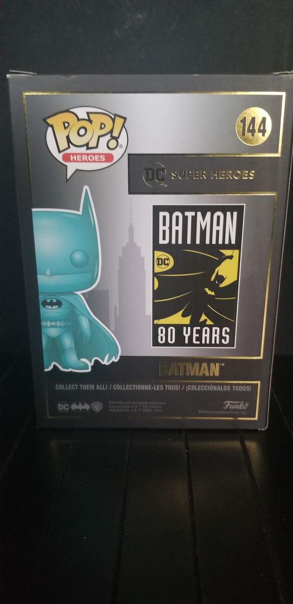 Funko Pop Batman Blue Chrome #144 2019 Summer Exclusive - Mint