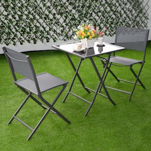 NEW Folding Furniture Set 3Pcs Outdoor Patio Use for Sale in Los Angeles, CA