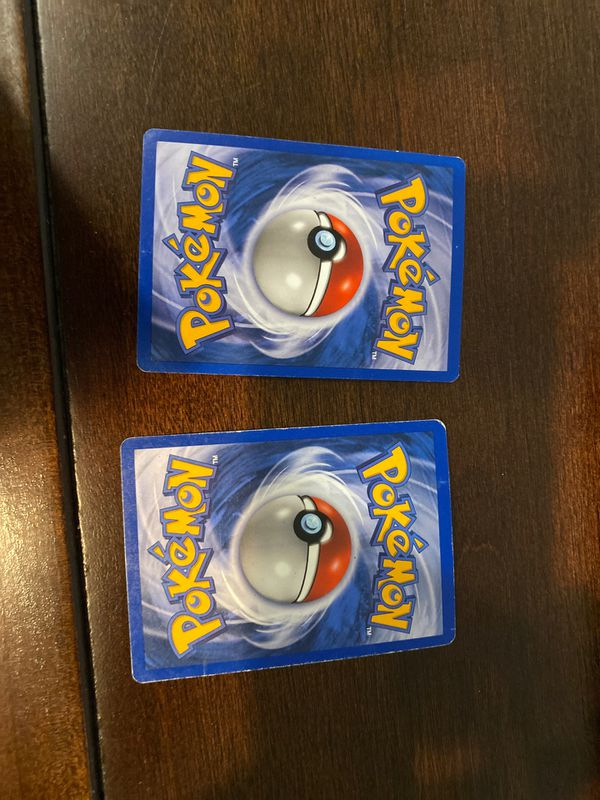2 first addition Pokémon cards (dratini, and spinarak)