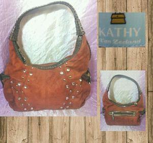 Kathy VanZeeland Soft Burnt Amber Hobo Bag With for Sale in Denver, CO