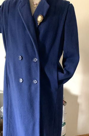 Maxi Coat Swagger Military Vintage 70s Wool Blue Harwood Size M for Sale in Mountain View, CA