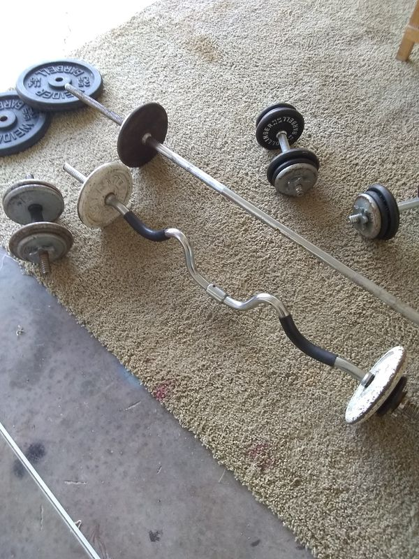 Weight Set Gym Lifting Exercise Workout