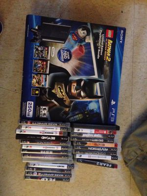 PS3 250GB one control 40 games for Sale in Providence, RI