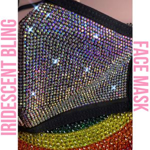 Iridescent extra bling face mask for Sale in Fresno, CA