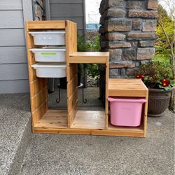 IKEA Storage Shelf With Bins for Sale in Tigard,  OR