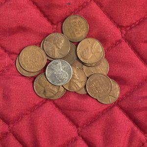 Coins - Lincoln pennies-1940 P thru 1958 P-final 19 years of wheat pennies for Sale in Marietta, GA