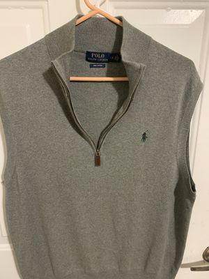 Polo Ralph Lauren Sleeveless 1/4 Zip Sweater Vest Pima Cotton Size L green for Sale in Round Rock, TX